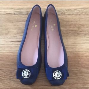 Kate Spade NWT leather BLUE FLATS/ loafers